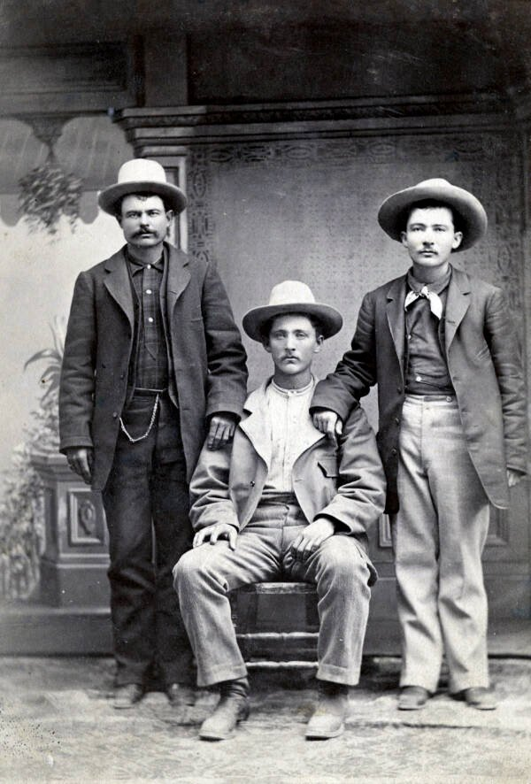 Three Cowboys Photographed By CS Fly