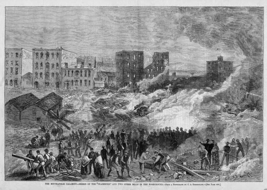 Washburn A Mill Disaster Illustration