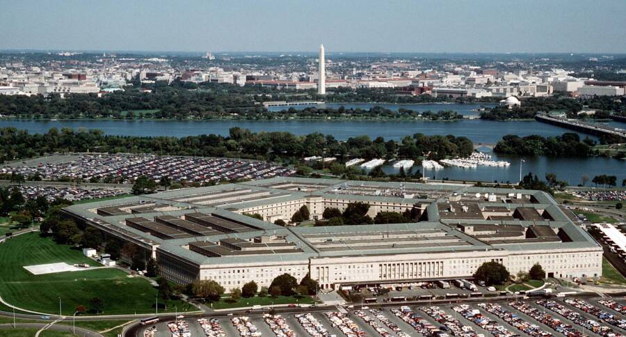 Aerial Shot Of The Pentagon