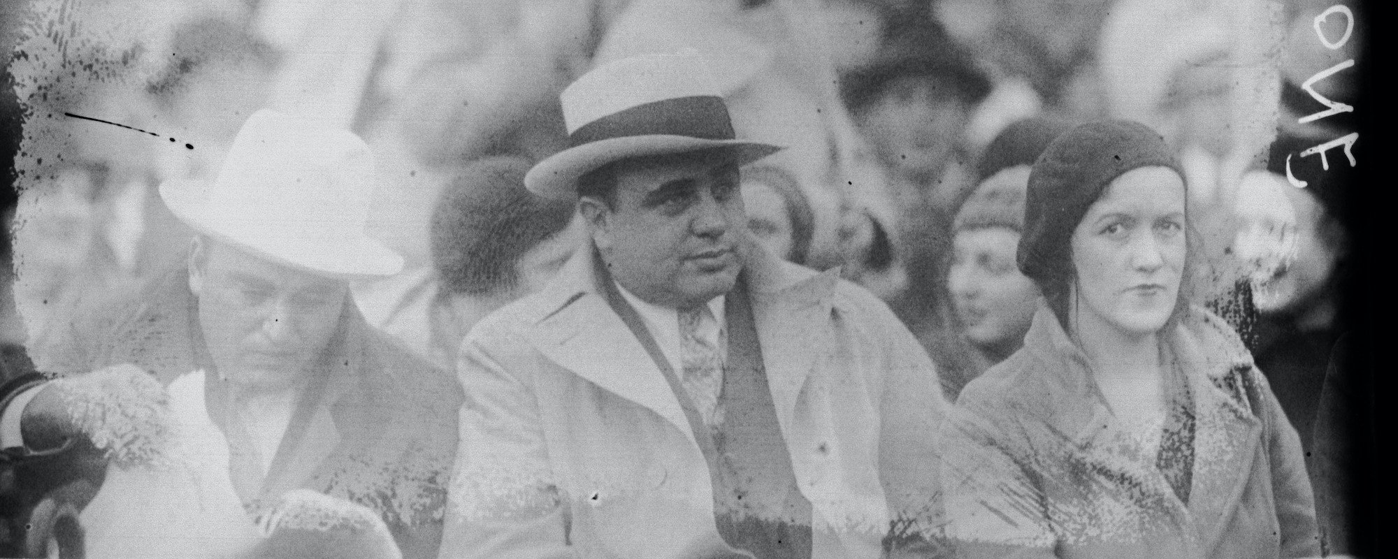 Al Capone Watching Baseball Featured