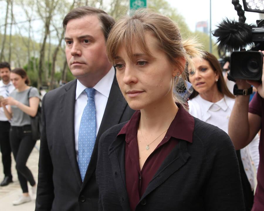 Allison Mack Leaving Court