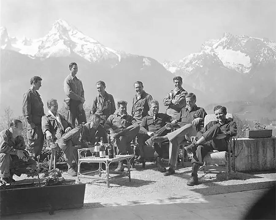 American Troops Posing At Eagles Nest