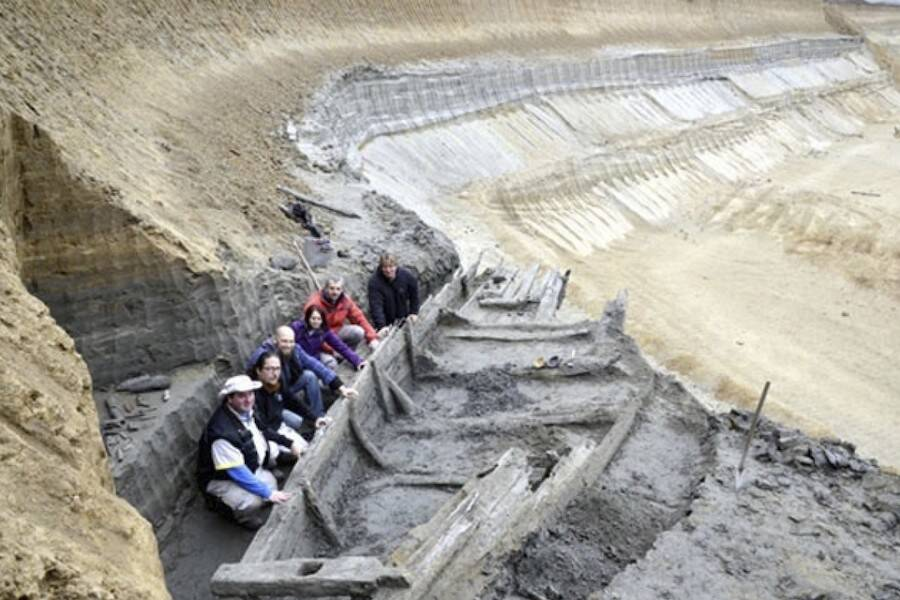 Archaeology Team With Ancient Roman Shipwreck