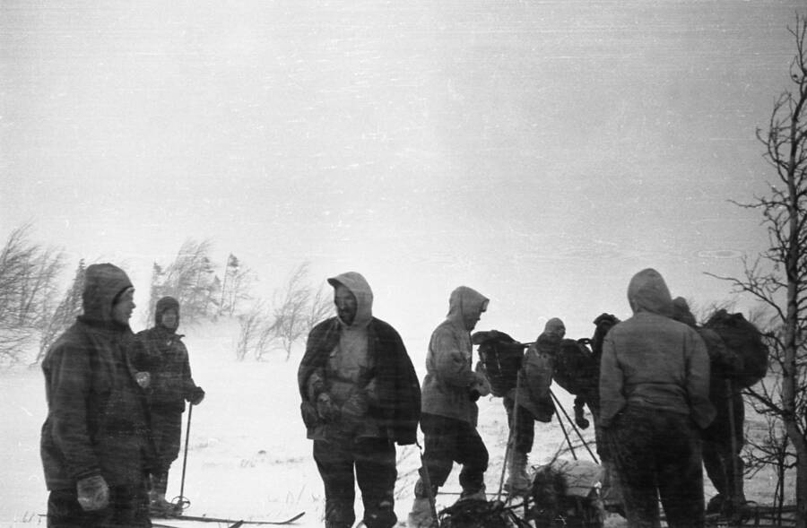 Photo Of The Dyatlov Group In The Snow