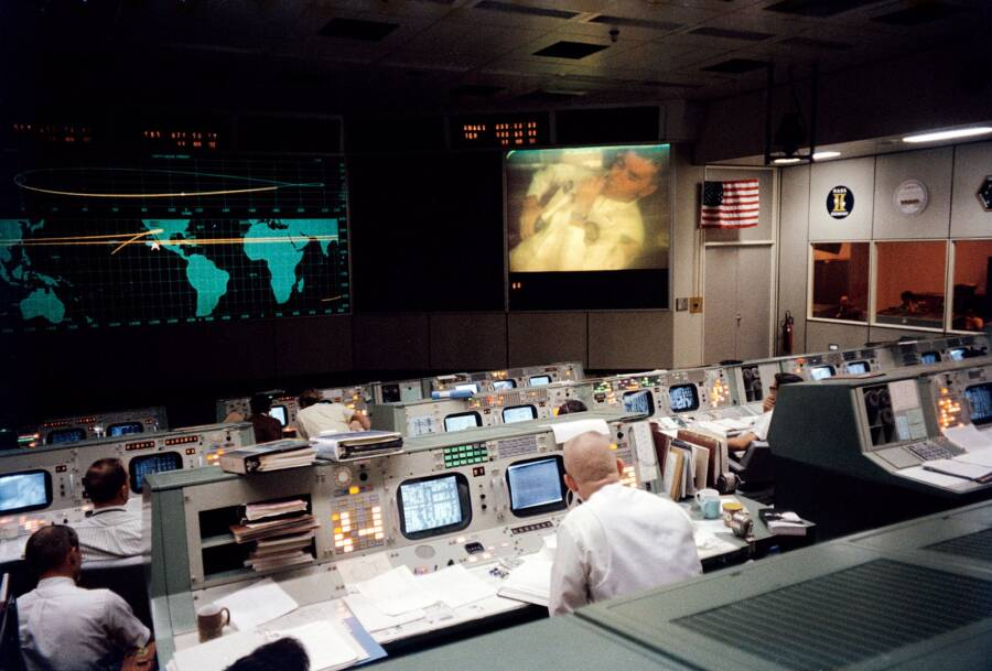 Eugene Gene Kranz At Nasa Mission Control