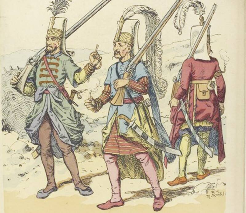 Illustration Of Janissaries