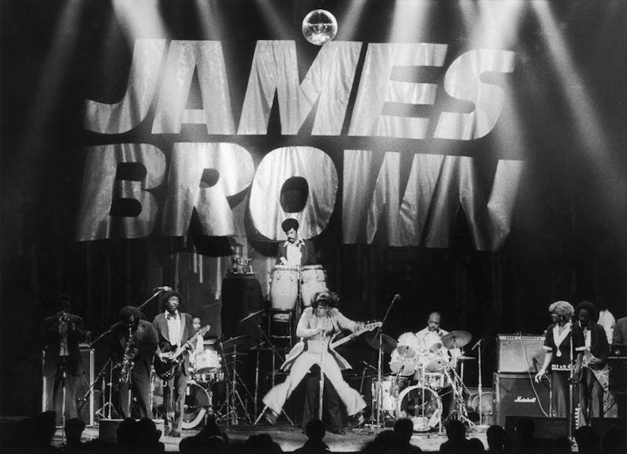 James Brown Jumping In Concert