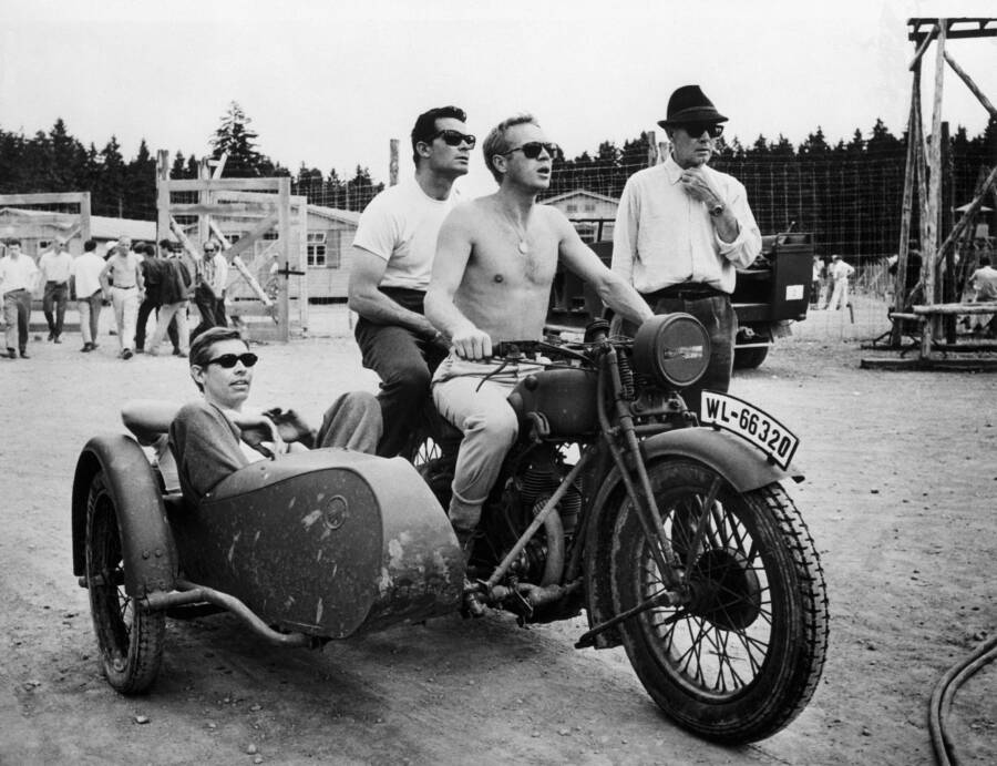 James Coburn And James Garner And Steve Mcqueen