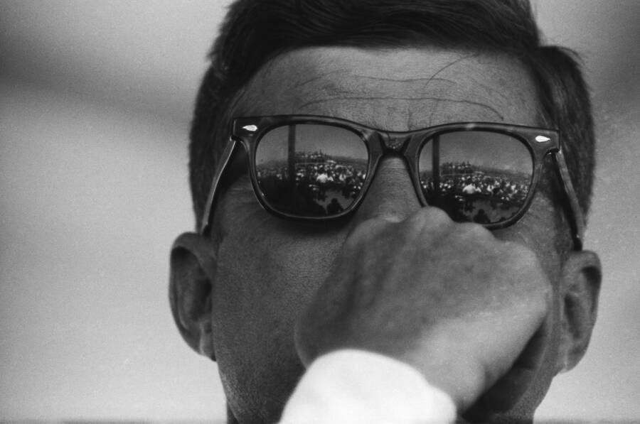 John F Kennedy Wearing Sunglasses