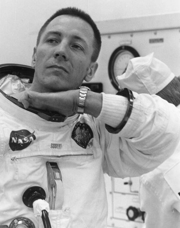 John Jack Swigert Suiting Up For Apollo 13