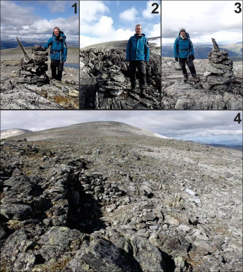 Lars Pilo With Lendbreen Cairn Remnants