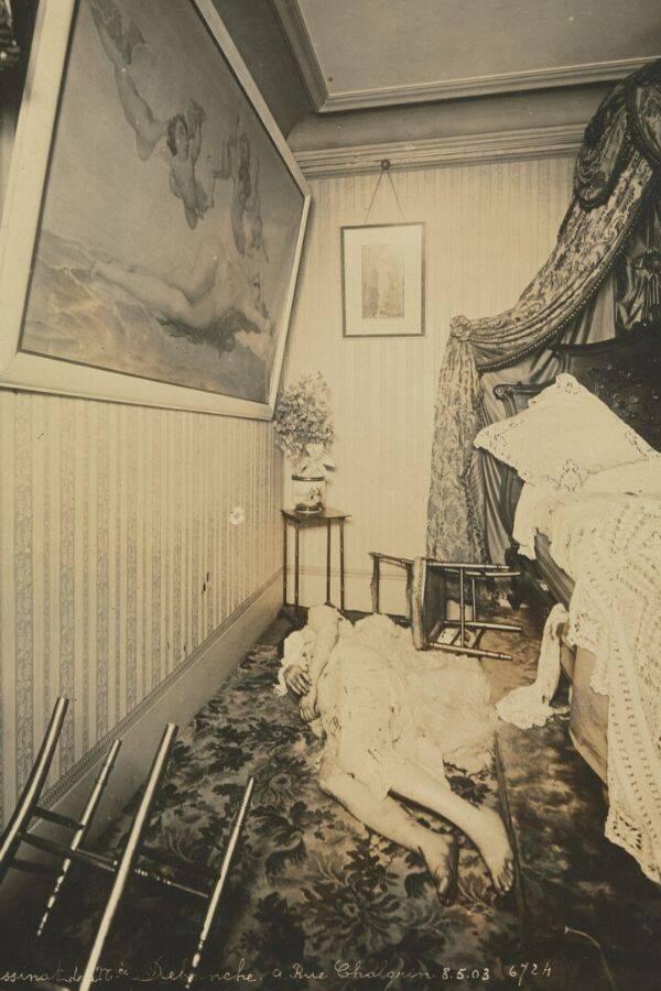 First Crime Scene Photo Of Madame Debeinche