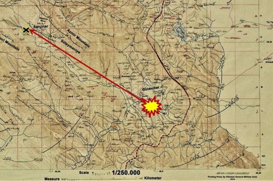 Map Of 1888 Meteorite Death