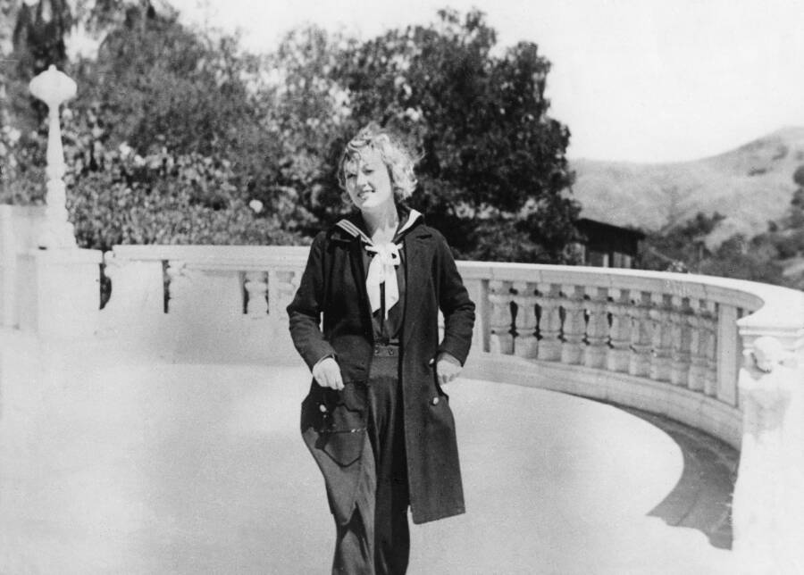 Marion Davies Taking A Walk In Sailors Uniform