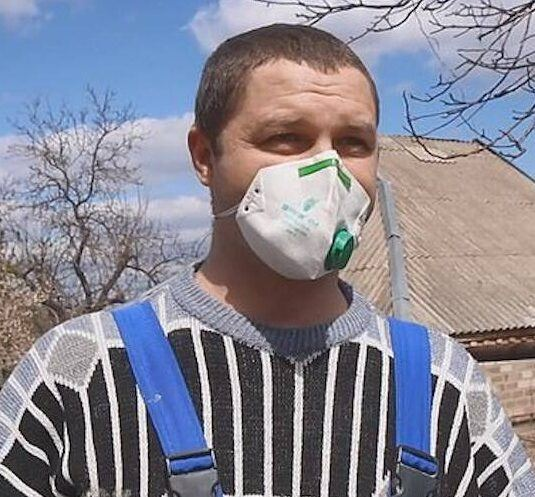 Mykola Wearing A Face Mask