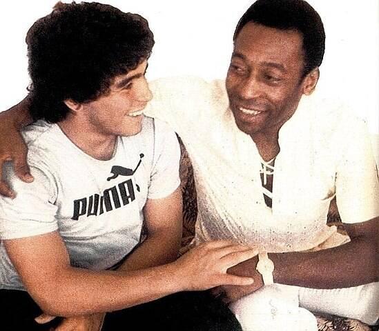 Pele And Maradona