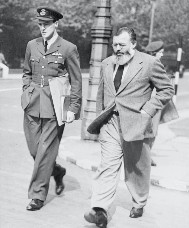 Roald Dahl With Ernest Hemingway