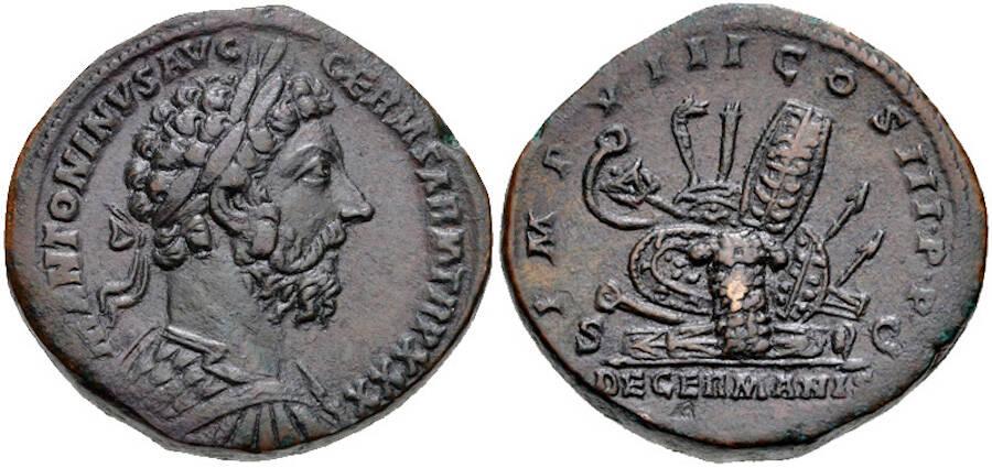 Roman Coin Commemorating Marcus Aurelius Antoninus