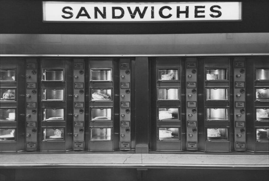 Sandwiches Displayed At An Automat