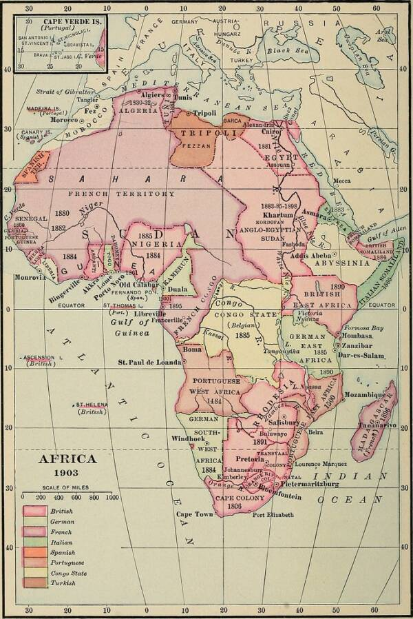 Africa Map In 1903