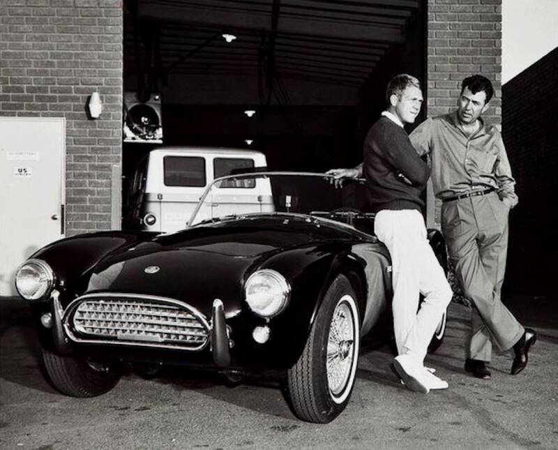 Steve Mcqueen And Carroll Shelby