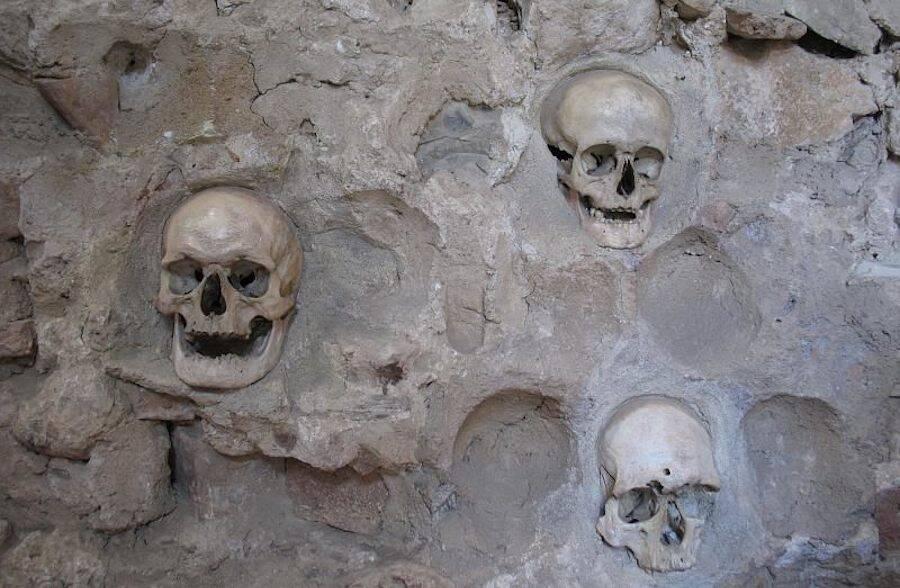 Three Skulls At Nis Skull Tower