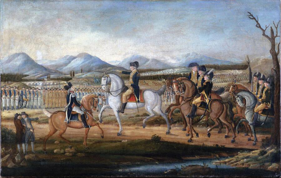 President Washington Leading Troops