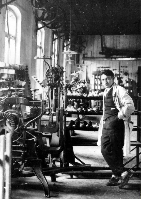 Young Adolf Dassler In Factory