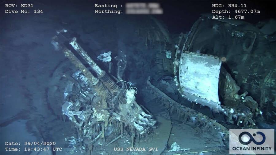40mm Gun Turret On The USS Nevada