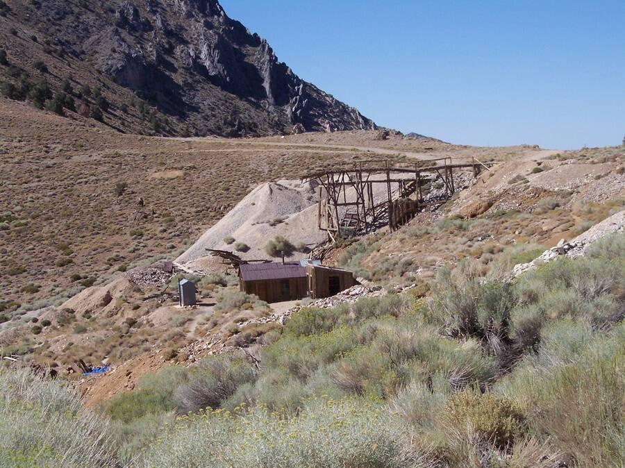 An Abandoned Cerro Gordo Mine