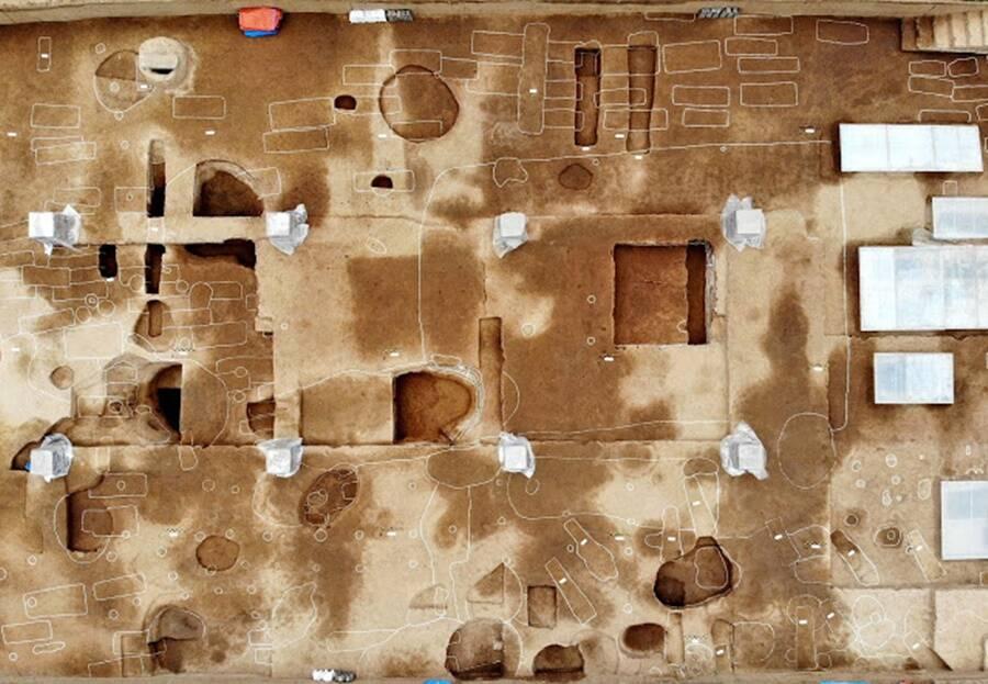Aerial View Of Shuanghuaishu