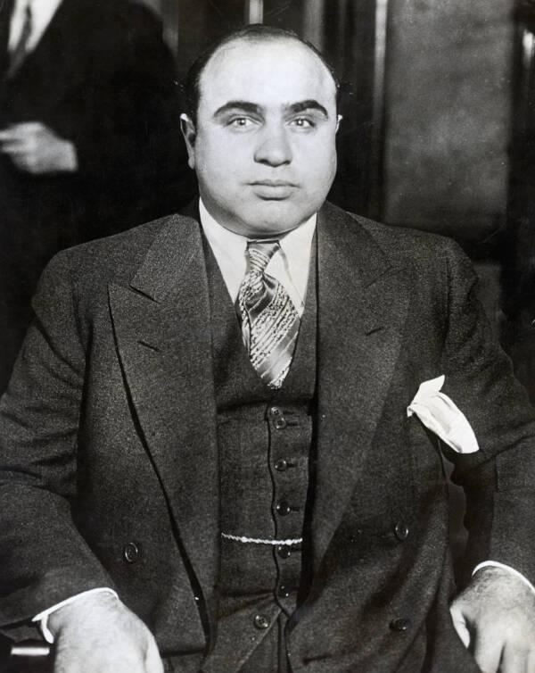 Al Capone Staring Into The Camera