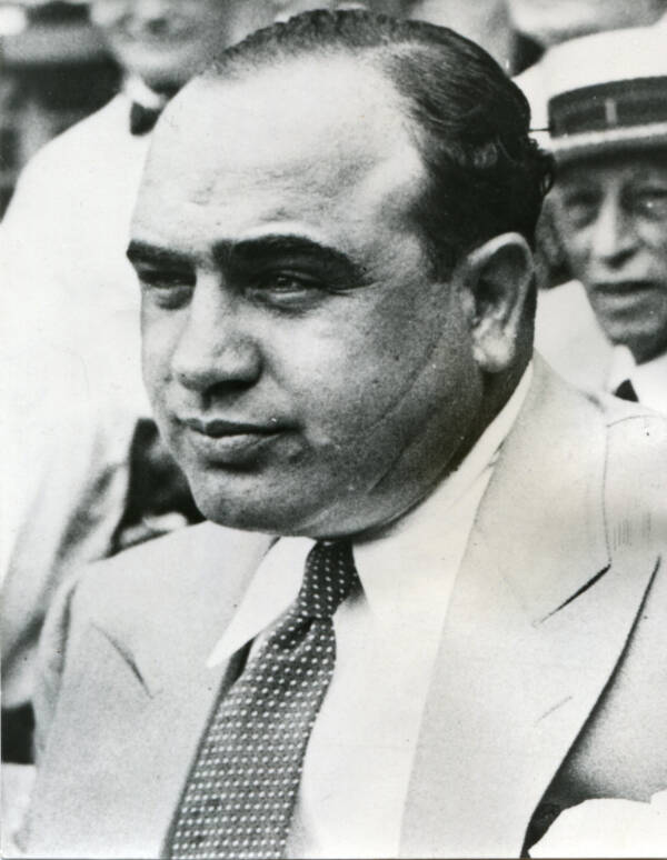 Al Capone With Scars On His Face
