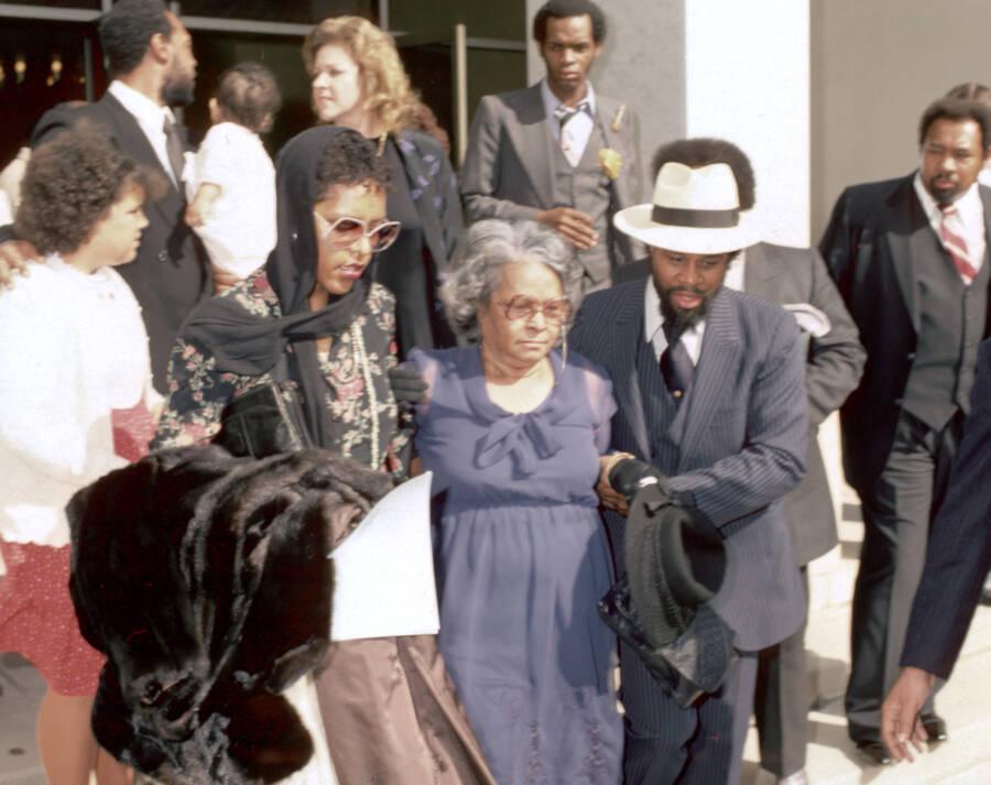 Alberta Gaye At Marvin Gaye's Funeral