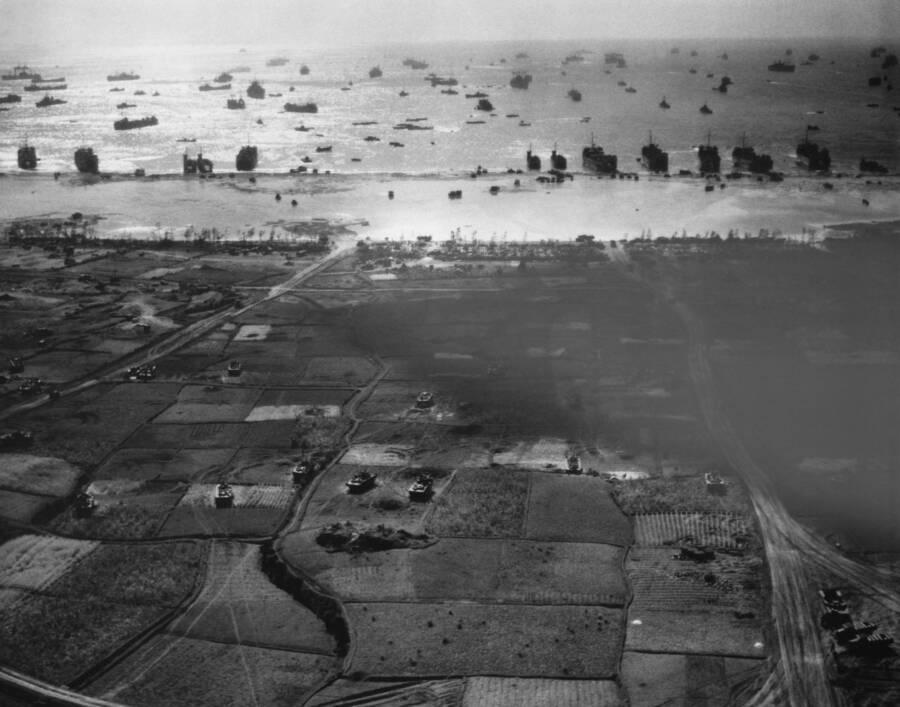 Allied Landing On Okinawa