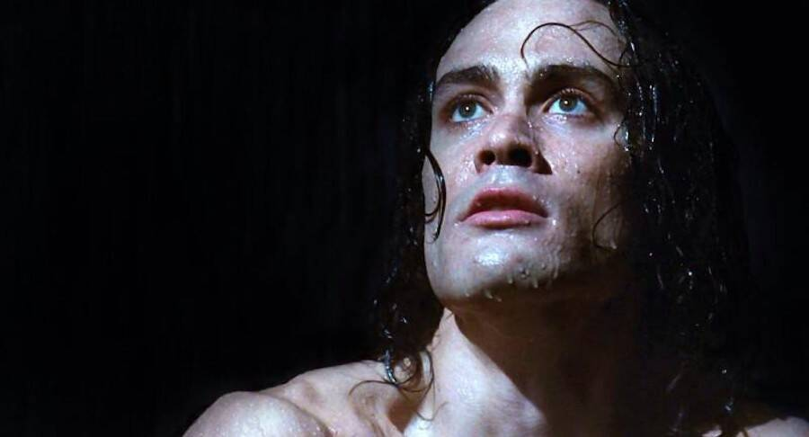 Brandon Lee In The Rain In The Crow