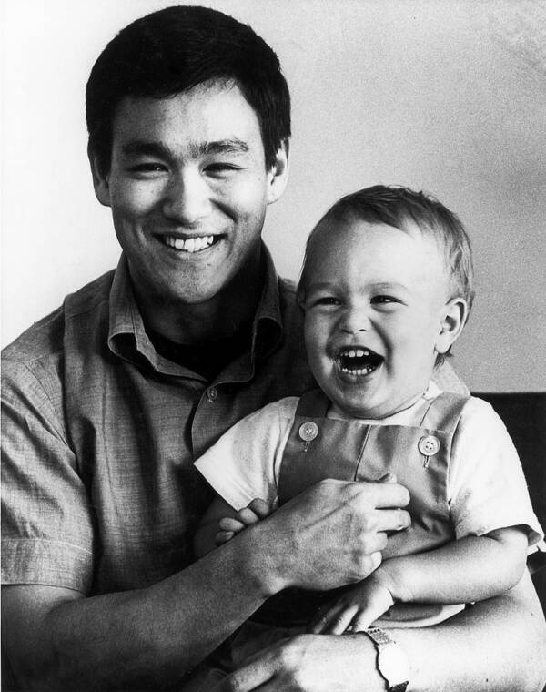 Bruce Lee With Toddler Brandon Lee