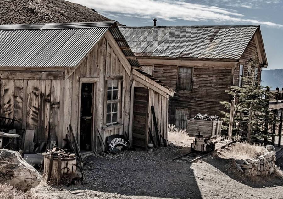 Derelict Cabins In Cerro Gordo