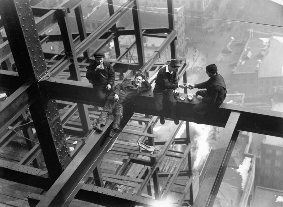 Construction Workers On A New York Skyscraper