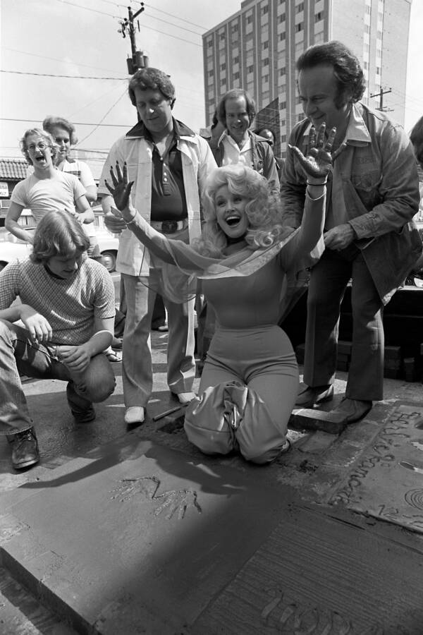 Dolly Parton Hands Concrete