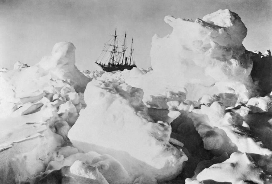 Endurance Ship On Ice