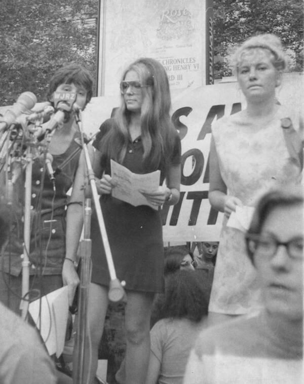 Gloria Steinem At Womens Rally