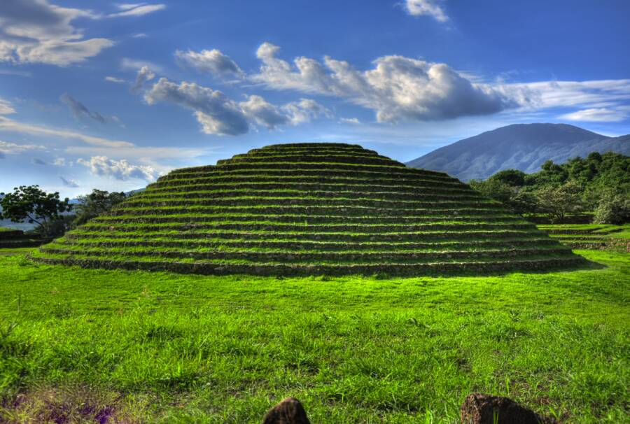 Guachimontones Pyramid In Jalisco