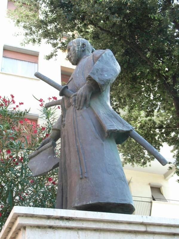 Hasekura Tsunenaga Statue In Italy