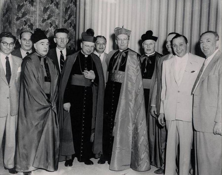 "Israel ""Ice Pick Willie"" Alderman With Priests"