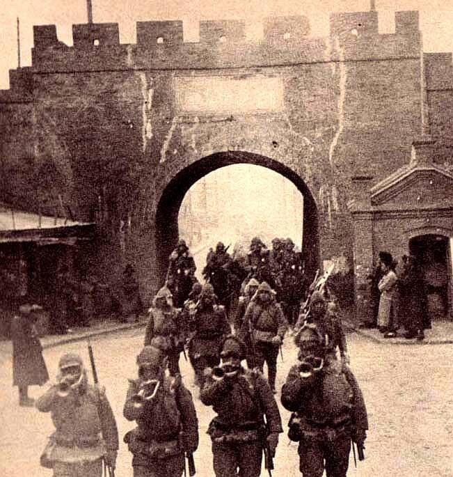 Japanese Troops Invading Manchuria
