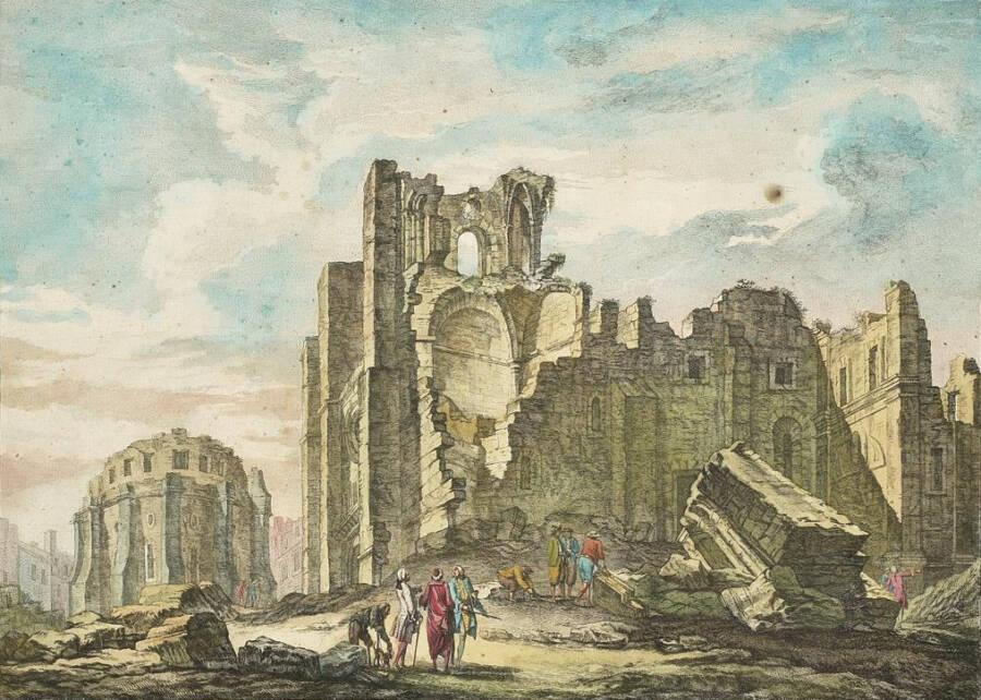 Lisbon Earthquake Ruins Of Cathedral