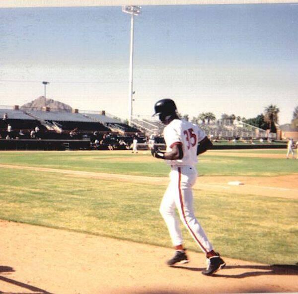 Michael Jordan Playing Baseball