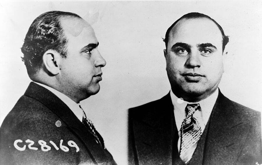 Mug Shot Of Al Capone In Suit And Tie
