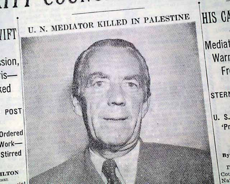 NYT Article On Folke Bernadottes Assassination